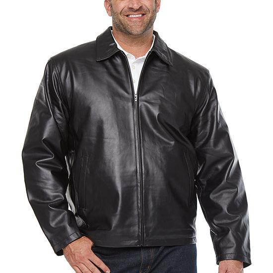 Vintage Leather Zipper Jacket - Big & Tall