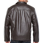 Vintage Leather Zipper Jacket - Big & Tall