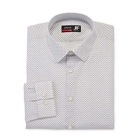 JF J.Ferrar Mens Point Collar Long Sleeve Stretch Dress Shirt - Slim
