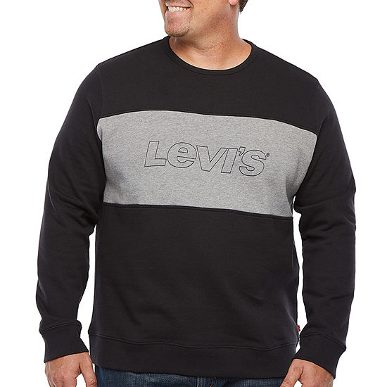 Levi's Big and Tall Mens Crew Neck Long Sleeve Sweatshirt