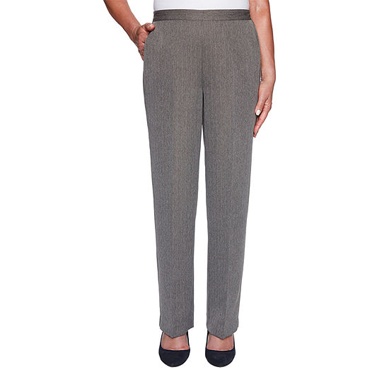 Alfred Dunner Sapphire Skies Womens Straight Pull-On Pants