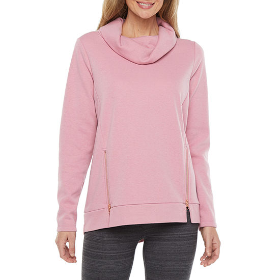 Xersion Womens Funnel Neck Long Sleeve Sweatshirt