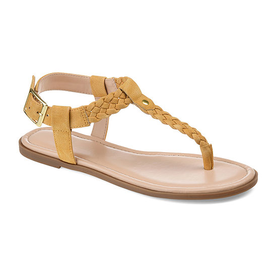 Journee Collection Womens Genevive Ankle Strap Flat Sandals