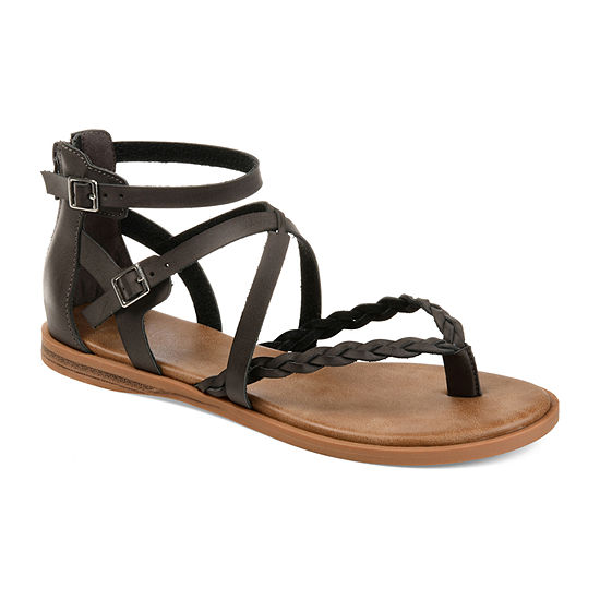 Journee Collection Womens Ninah Flat Sandals