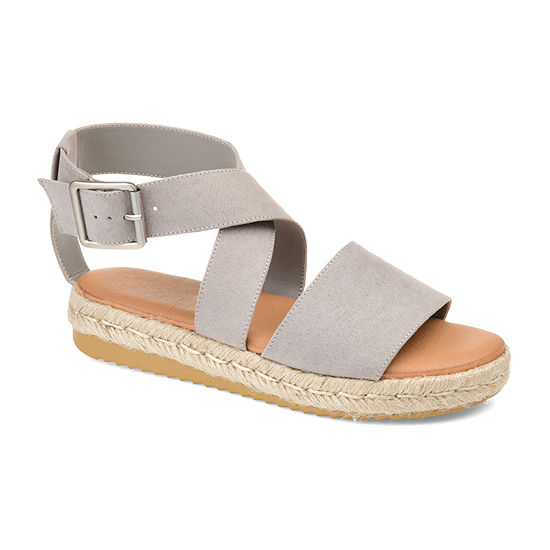 Journee Collection Womens Trinity Ankle Strap Flat Sandals