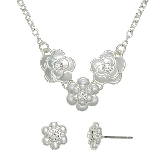 Mixit Hypoallergenic Flower 2-pc. 18 Inch Necklace Set