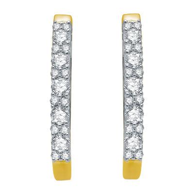 Ever Star 1 CT. T.W. Lab Grown Diamond 10K Gold 25mm Stud Earrings