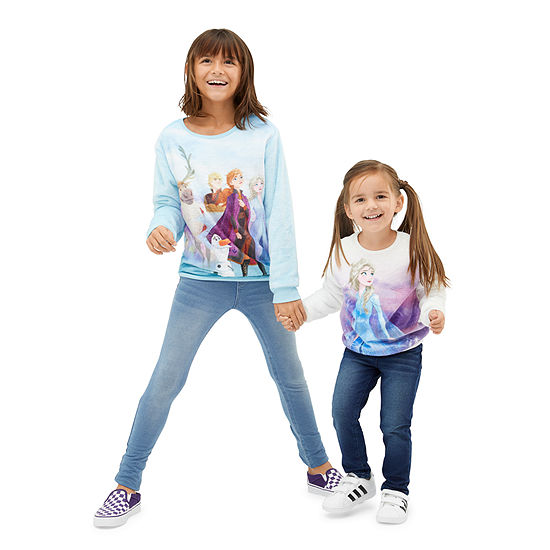 Frozen 2 Toddler & Big Girl Sherpa Pullover