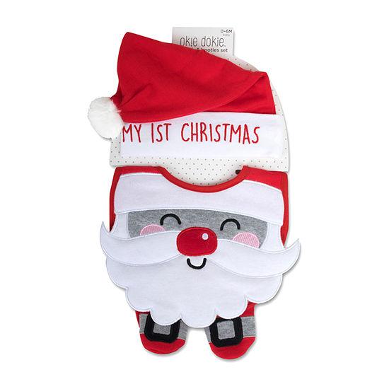 Okie Dokie Christmas Unisex 3-pc. Bib