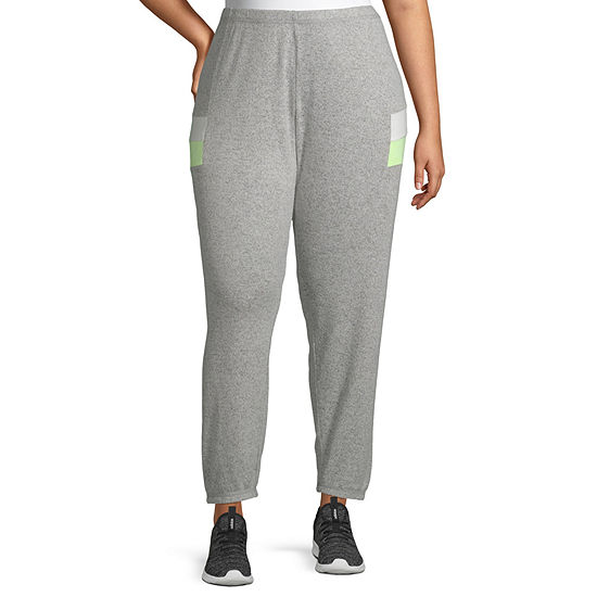 Inspired Hearts Womens Mid Rise Jogger Pant-Juniors Plus