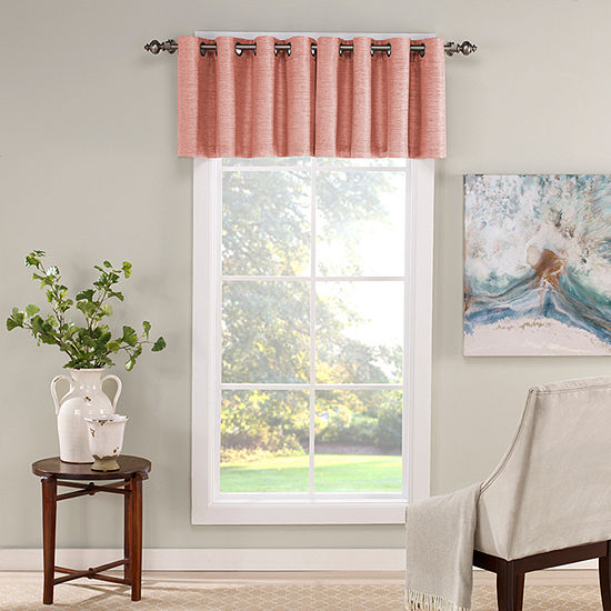 Eclipse Newport Jacquard Grommet-Top Tailored Valance