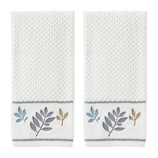 Saturday Knight Pencil Leaves 2-pc. Hand Towel