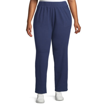 St. John's Bay Womens Mid Rise Slim Pant-Plus