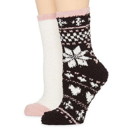 Mixit 2 Pair Slipper Socks Womens. 4-10 . Multiple Colors