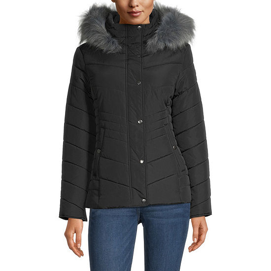 Maralyn And Me Long Sleeve Hooded Water Resistant Heavyweight Puffer Jacket-Juniors