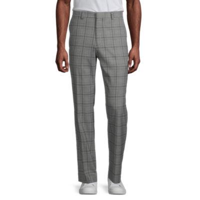 JF J.Ferrar Ultra Mens Glen Plaid Slim Fit Suit Pants