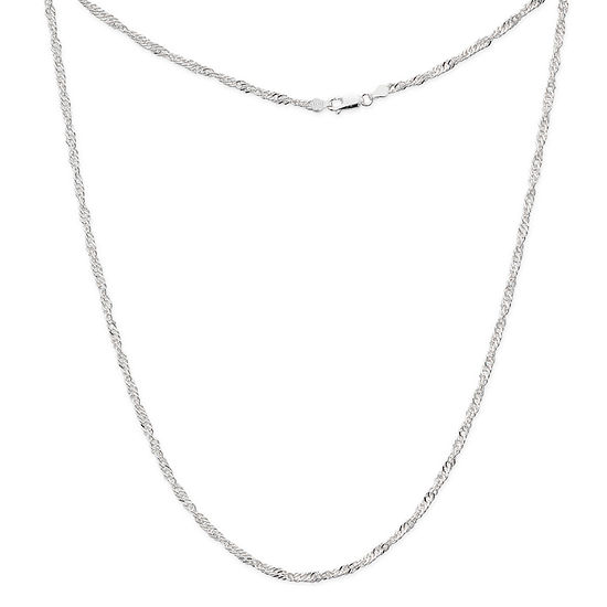 Silver Reflections Silver Reflections Sterling Silver 18 Inch Cable Name Necklace