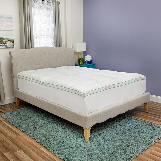 BioPEDIC Fresh and Clean 2.5-Inch Down Alternative Mattress Topper with Antimicrobial Ultra-Fresh Treated Fabric