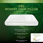 SensorPEDIC Chamomile Scented Memory Foam Bed Pillow with All Natural CBD Infused Cover