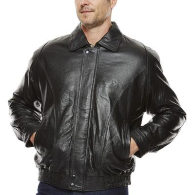 Vintage Pig Leather Bomber Jacket