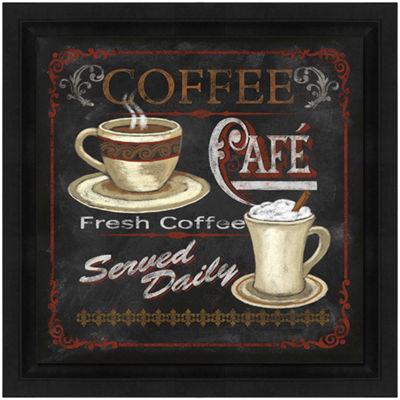 Coffee Café Framed Canvas Wall Art