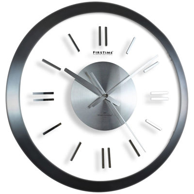 FirsTime® Modish Gunmetal Wall Clock