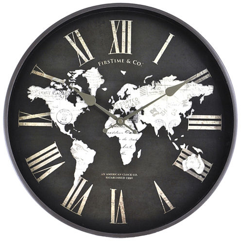 FirsTime® World Map Wall Clock