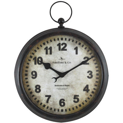 FirsTime® Metal Pocket Watch Wall Clock