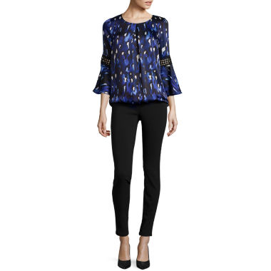 jcpenney.com   Alyx® Animal Print Bell-Sleeve Top or Millenium Straight Pants