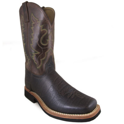 "Smoky Mountain Men's Roger 12"" Crackle Brown Leather Cowboy Boot"
