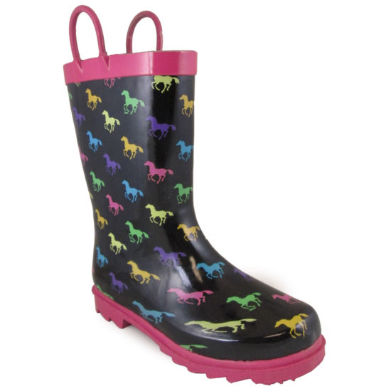 Smoky Mountian Kid's Ponies Rubber Rain Boot Toddler