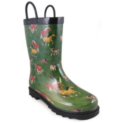 Smoky Mountain Kid's Round Up Rubber Rain Boot