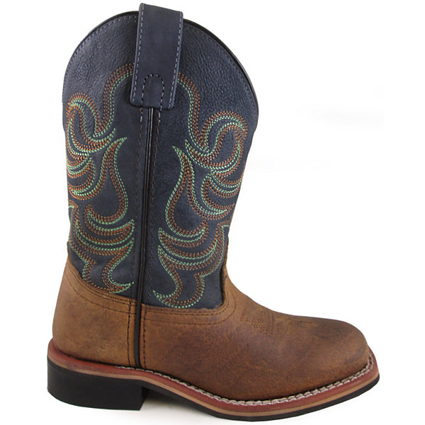 Smoky Mountain Kid's Jesse Bison Leather Leather Cowboy Boot