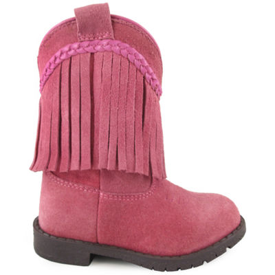 Smoky Mountain Girl's Hopalong Fringe Side Zipper Suede Cowboy Boot Toddler