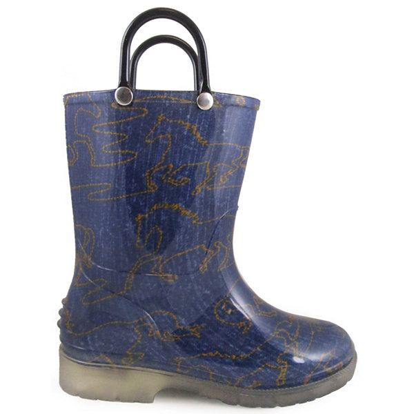 Smoky Mountain Girl's Starlight PVC Rain Boots With Lighted Sole