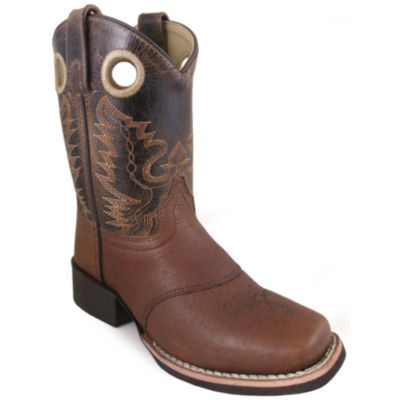 Smoky Mountain Kid's Luke Leather Square Toe Boot