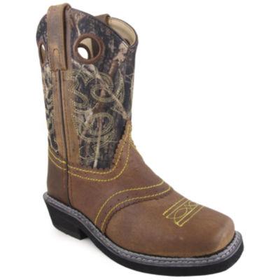 Smoky Mountain Kid's Pawnee Oiled Distress Leather Cowboy Boot