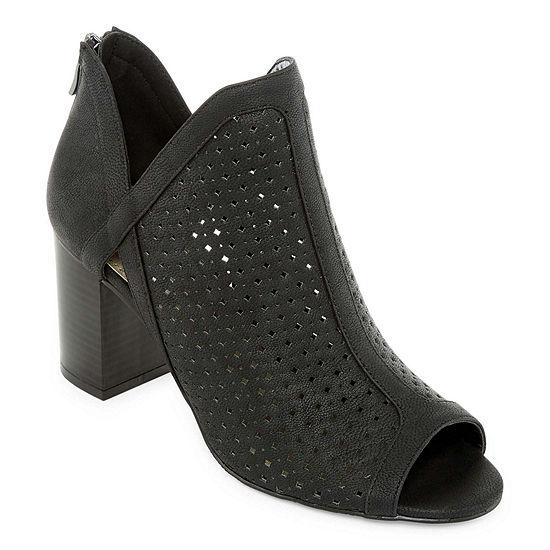 a.n.a Womens Tiana Pumps Open Toe Block Heel