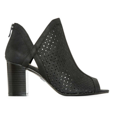 a.n.a Womens Tiana Block Heel Shooties Zip Open Toe