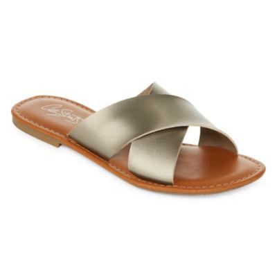 City Streets Ava Womens Flat Sandals