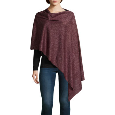 Mixit Shine Sleeveless Draped Neck Poncho