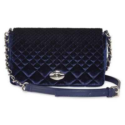 Latique Diamond Velvet Crossbody Bag