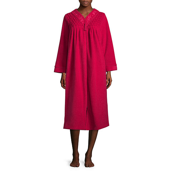 426fcfc0f50a86 Collette by Miss Elaine Brushback Terry Long Zip Robe - JCPenney