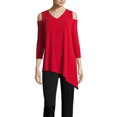 Liz Claiborne Cold Shoulder Tunic - Tall