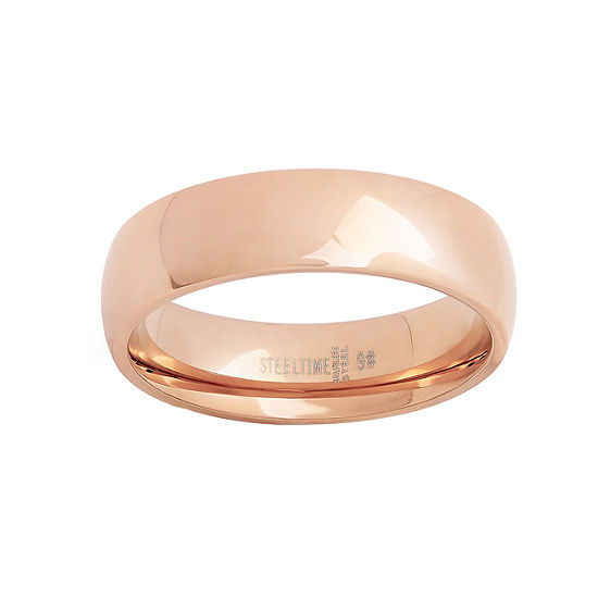 Mens 18K Gold over Stainless Steel Band