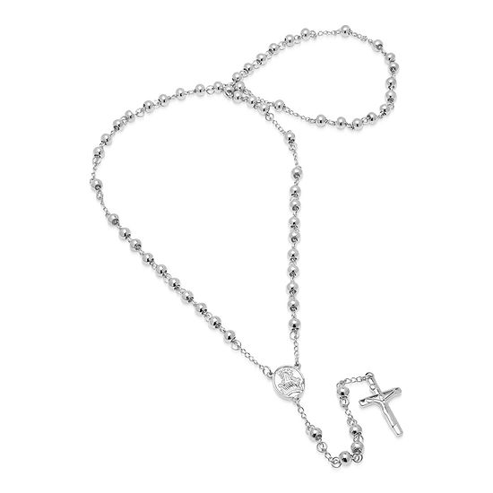 Steeltime Mens Stainless Steel Rosary Necklaces