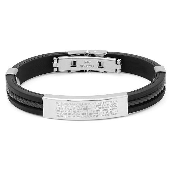 Steeltime Stainless Steel 8 1/2 Inch Solid Id Bracelet