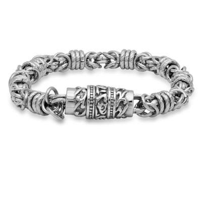 Steeltime Mens 8 1/2 Inch Stainless Steel Link Bracelet