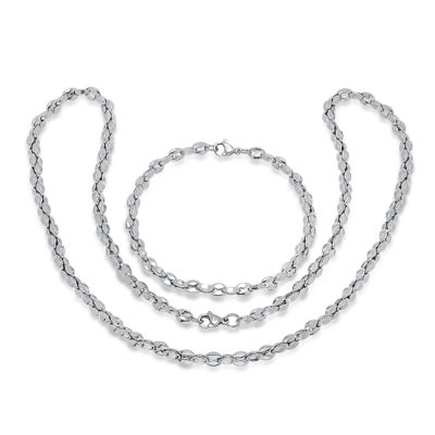 Steeltime Mens 2-pc. Stainless Steel Jewelry Set