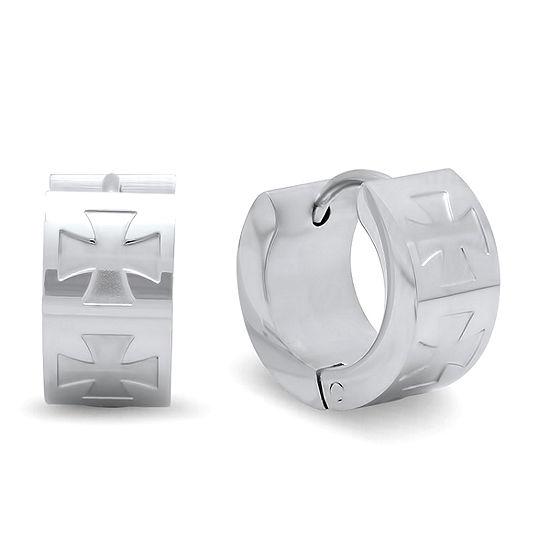 Steeltime Stainless Steel 14mm Hoop Earrings